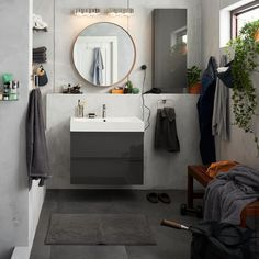 Get inspired with our bathroom design ideas. Our bathroom design gallery highlights multiple bathrooms in a variety of styles featuring IKEA products. Ikea Bathroom Sinks, Bathroom Toilets, White Bathroom, Bathroom Interior, Small Bathroom, Bathroom Ideas, Bathroom Furniture Inspiration, Dream Bathrooms, Interior Design