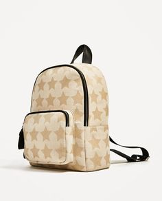 Image 4 of STARS FABRIC BACKPACK from Zara