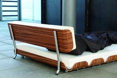 The Tiefschlaf Walnut Backrest and bed