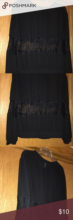 H&M size 8 top EUC, wore only once, size 8 (Medium), Black 100% polyester top from H&M. H&M Tops Blouses