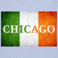 "New Design - ""Chicago Irish Flag"" @ (www.chicagohoody.com)"