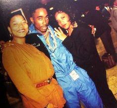 Tupac Shakur and Queen Latifah