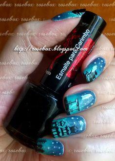 Oi pessoal!   Hoje inspirada na plaquinha BBF, fiz essas unhas!         Primeiro fiz um degradê com os esmaltes Colorama  JEANS e HIPPIE C...