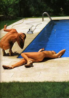 Poolside by Helmut Newton - The English Group