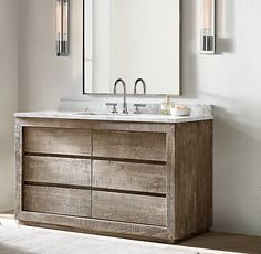 Reclaimed Russian Oak Double Vanity