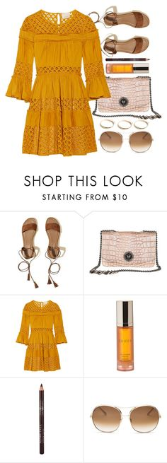 """""""Rome Walk"""" by mezzanotteofficial on Polyvore featuring Hollister Co., Cinq à Sept, Shiffa, Chloé, GUESS, orange and brown"""