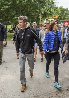 HRH Crown Princess Mary and Crown Prince Freerik visit the Roskilde Festival to watch the Rolling Stones perform. Roskilde, 03.07.2014.