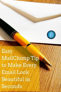 A fantastic (and easy) way to make your MailChimp emails look beautiful in seconds. Good tip for #bloggers!