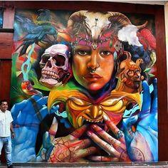 """174 curtidas, 2 comentários - Urban Art Unlimited (@urbanartunlimited) no Instagram: """"@raf.arte in Lima, Perú - 2017 / 📸 Repost #rafarte 🔹 #urbanartunlimited #lima #peru #mask…"""""""