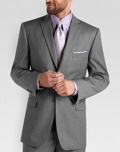 Wilke Rodriguez Gray Multistripe Slim Fit Suit - Slim Fit (Extra Trim) | Men's Wearhouse