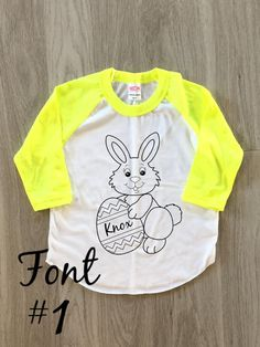 Easter Bunny Raglan Tee  Easter shirt  baby by 8thWonderOutfitters