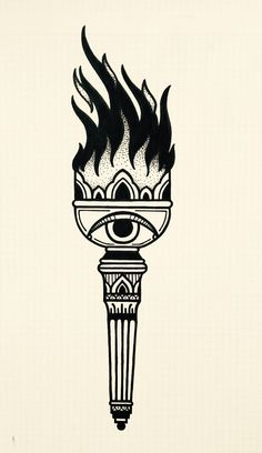 Ideas tattoo traditional blackwork old school Traditional Tattoo Torch, Traditional Black Tattoo, Traditional Tattoo Old School, Traditional Tattoo Design, Traditional Tattoo Flash, Kunst Tattoos, Body Art Tattoos, Tattoo Drawings, Tattoo Ink
