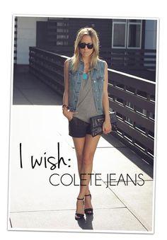 Desejo do dia: colete jeans