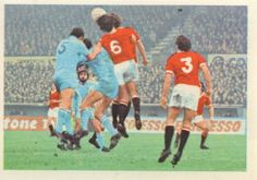 003 - Review Of The Season - Manchester United reached the final of the F.A. Cup for the sixth time in their history. Here they are seen in a First Division match against Coventry City (blue shirts).
