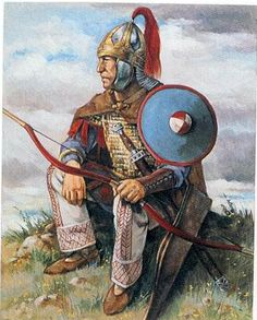 byzantine army archer of emperor Justinian I in the 6th century AD