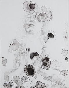 Diane Victor, Our lady of the Stains, Lithograph, 51 x 65 cm Really Cool Drawings, Bokashi, South African Artists, Woman Drawing, Conceptual Art, Our Lady, Types Of Art, Portrait Art, Line Drawing