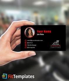 Dance class business card template dance class card templates and crossfit box business card template reheart Gallery