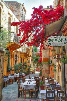 Crete, Greece.  I can totally see myself sitting there!