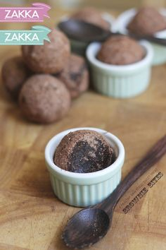 Raw Brownie Bites – RECIPE | ZAKKA – sweet design of Scandinavia  • raw food, raw sweets, vegan, paleo, dairy free and processed sugar free, grain free, mocha, cake balls