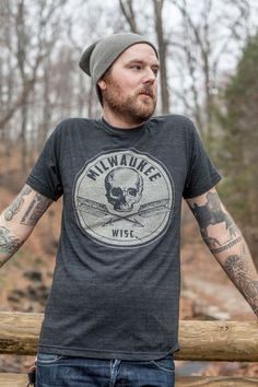 Milwaukee Skull and Cross Arrows Tee