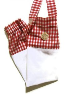 Fabric Plastic Bag Holder/ Grocery Bag Holder/ Red by bagsbyhags45, #Italian Theme #Kitchen Decor