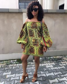 Nigerian Wedding Popular Ankara Styles: Check Out These 35 Stylish Ways To Rock The Off Shoulder Ankara Exaggerated Balloon Sleeves Tops - Nigeria: Nigerian Wedding's Blog