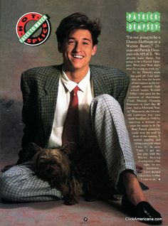 This proves everyone goes through an awkward stage :)  Patrick Dempsey (1988)