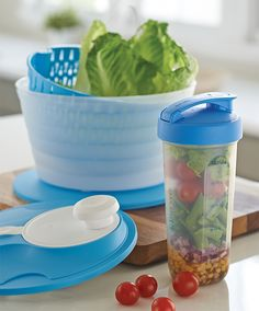 Up your salad game with the all in one Salad Spinner and versatile Quick ShakeⓇ Container.