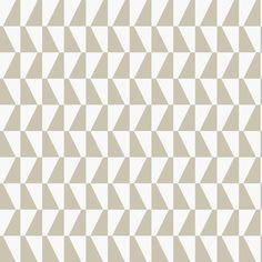Scandinavian Designers Arne Jacobsen (TRAPEZ 2738), also known by its design name TRAPEZ, is a beige, white, contemporary, paste the wall, wallpaper and part of the Scandinavian Designers wallpaper collection by Borastapeter.