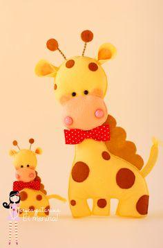 Felt giraffe #giraffe #felt #DIY