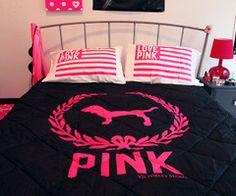 New Bedroom Goals Pink Victoria Secret Ideas Victoria Secret Bedroom, Victoria Secret Pink, Pink Bedrooms, Teen Girl Bedrooms, My New Room, My Room, Cute Bedspreads, Comforters, Vs Pink