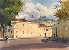 Акварельные пейзажи с Сергеем Курбатовым. 13-16 мая, Москва, – Art-Holidays