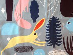 Marimekko Huhuli cotton fabric, half yard, from Finland, big print #Marimekko