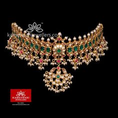 Traditional gold necklaces for women from the house of Kameswari. Shop for antique gold necklace, exquisite diamond necklace and more! Gold Earrings Designs, Gold Jewellery Design, Necklace Designs, Gold Jewelry, Cz Jewellery, Gold Necklaces, Antique Jewellery, Fashion Jewellery, Handmade Jewellery
