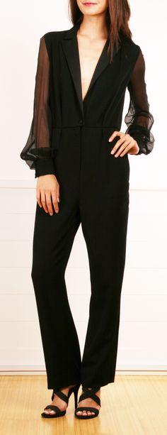 Yves Saint Laurent Jumpsuit in Black.