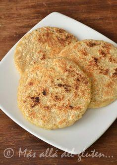 Más allá del gluten...: Arepas con Amaranto (Receta GFCFSF, Vegana)