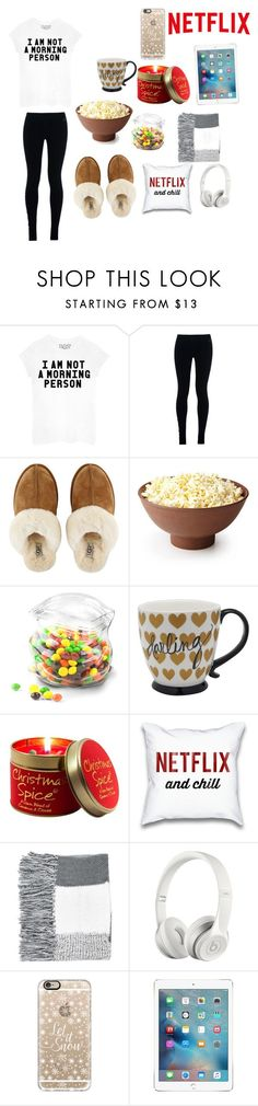 """""""Day #11// lazy day at home"""" by menna121 ❤ liked on Polyvore featuring NIKE, UGG Australia, Dot & Bo, Lily-Flame, Topshop, Beats by Dr. Dre, Casetify and mennaandcookiesCountdown"""