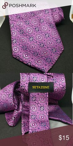 Setazone necktie Metallic Floral purple tie Accessories Ties