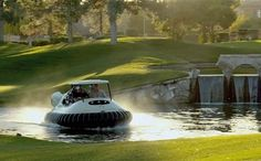 Bubba's Hover is a hovercraft golf cart designed by Babba Watson and Oakley. The cart can travel over both golfing greens and water.