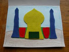 99 Creative Mosque Projects - A Muslim Child is Born: Whoever Builds A Masjid... Felt Puzzle Activity