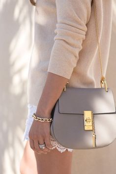 Handbags & Wallets - chloe drew--cant decide between the grey and black! - How should we combine handbags and wallets?Stylish Handbags For Women That Are Trending The Social Media Buy Women fashion wallets and Latest Hand Bags USA at fashion Cornerst Stylish Handbags, Fashion Handbags, Purses And Handbags, Fashion Bags, Handbags Online, Fashion Purses, Chloe Handbags, Small Handbags, Burberry Handbags