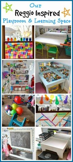 Our Reggio Inspired Playroom & Learning Space - Rainey Day Play guest posting on Epic Childhood