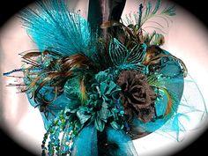 Midnight Garden Witch Hat Halloween OOAK by Marcellefinery on Etsy, $82.00