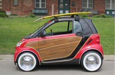 Woody SmartCar. I would drive this with my knees while hanging one arm out of each window.