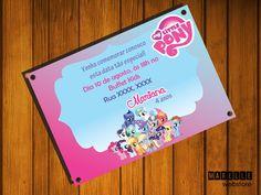 """Convite digital """"My Little Pony""""    É simples e fácil, imprima quantas cópias desejar e no local que quiser, na sua impressora, gráfica ou até mesmo enviar para o e-mail dos seus convidados.    >> IMPORTANTE <<    - Arquivo: JPG  - Tamanho: 10x7 cm  - Alta resolução;  - Somente o texto pode ser alterado (nome, data, local e horário);  - O arquivo só será enviado após confirmação do pagamento (Até 3 dias úteis);    Qualquer dúvida, por favor entre em contato! R$ 15,00"""