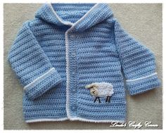 Baby Boy Blue Lamb Sweater - Free Pattern!