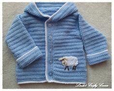 Baby Boy Blue Lamb Sweater - Free Pattern!