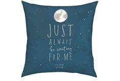 One Kings Lane - Pillow Talk - Peter Pan 18x18 Pillow, Blue
