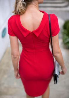 Mary Orton wears the red Boden Betty Ottoman Dress Classy Cubicle, Sheath Dress, Bodycon Dress, Dedicated Follower Of Fashion, Neck Deep, Nice Dresses, Summer Dresses, Kinds Of Clothes, Wiggle Dress