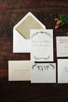 Ruffled Ink Hand Painted Wedding Invitations